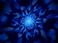 Time warp blue abstract fractal background computer generated Royalty Free Stock Photos