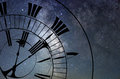 Time Warp. Time and Space, General Relativity. Royalty Free Stock Photo