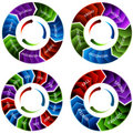 Time Wheel Arrows Royalty Free Stock Photos