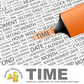 Time word cloud concept illustration wordcloud collage Royalty Free Stock Image