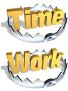 Time Work Trap Royalty Free Stock Photos