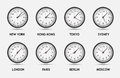 Time Zone World vector illustration Royalty Free Stock Photo