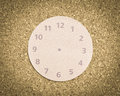 Timeless concept abstract clock face without arrows on a cork background Royalty Free Stock Image