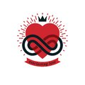 Timeless Love concept, vector symbol created with infinity loop Royalty Free Stock Photo