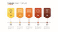 Timeline chart infographic template for data visualization. 5 st