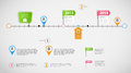 Timeline infographic business template vector Royalty Free Stock Photo