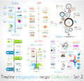 Timeline Infographic design templates Set 2. Royalty Free Stock Photo