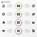 Timeline Infographic. Modern design template. Vector