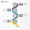 Timeline infographics. Modern design template with icons. Vector
