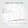 Timeline template illustrated and Royalty Free Stock Image