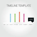 Timeline template illustrated and Royalty Free Stock Images