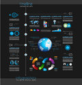 Timeline to display your data with infographic element in order elements technology icons graphs world map and so on ideal for Royalty Free Stock Photos