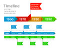 Timeline web element template vector illustration white Royalty Free Stock Photo