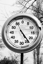 Timer competitions black and white Stock Photo