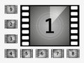 Movie countdown numbers vector set Royalty Free Stock Photo