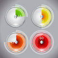 Timer icon in four positions Royalty Free Stock Image