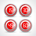 Timers set 15 30 45 60 minutes Royalty Free Stock Photo