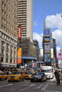 Times Square, 7de Ave, de Stad van New York Royalty-vrije Stock Fotografie