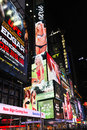 Times square billboards colorful in new york city example of a marketing campaign february Stock Photography