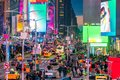 Times Square, iconic street of Manhattan in New York City Royalty Free Stock Photo