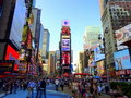 Times Square life Stock Photography