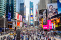Times square new york circa may circa may is a major commercial intersection iconified as the crossroads of Royalty Free Stock Photo