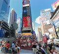 Times Square in New York Cirty Lizenzfreies Stockfoto