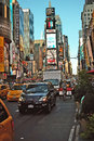 Times square new york intersection of west th street th avenue and west street Stock Photos