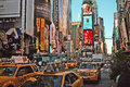 Times square new york intersection of west th street th avenue and west street Stock Photography