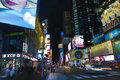 Times square new york a view of in manhattan ny Royalty Free Stock Photo
