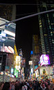 Times Square night life Stock Photos