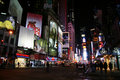 Times Square at Night, New York  Royalty Free Stock Image