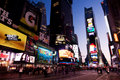 Times Square par Night Photographie stock