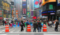 Times Square Pedestrian Mall Royalty Free Stock Photo