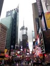 Times square in rain Royalty Free Stock Photography