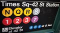 Times Square--42 Street Subway Sign Royalty Free Stock Photo