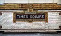 Times square tile mosaic subway sign Stock Images