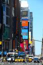 Times square traffic on th avenue in Stock Photography