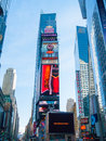 Times square view of the famous in manhattan nyc Royalty Free Stock Photography