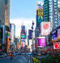Times square view of the famous in manhattan nyc Royalty Free Stock Photo