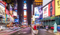 Times square view of in manhattan new york city usa at night Royalty Free Stock Images