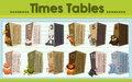 Times tables chart with wild animals