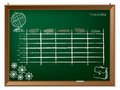Timetable hand drawn on chalkboard Royalty Free Stock Photo