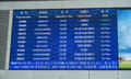 Timetable in train station Royalty Free Stock Photo