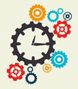 Timewatch design over beige background vector illustration Stock Images