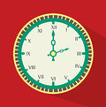 Timewatch design over red background vector illustration Stock Photos