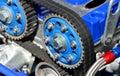 Timing belt car engine motor Stock Photo