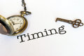 Timing Is Everything Royalty Free Stock Photo