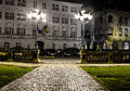 Timisoara center at night central square piata unirii romania Royalty Free Stock Photo