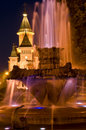 Timisoara nightscape Stock Photo